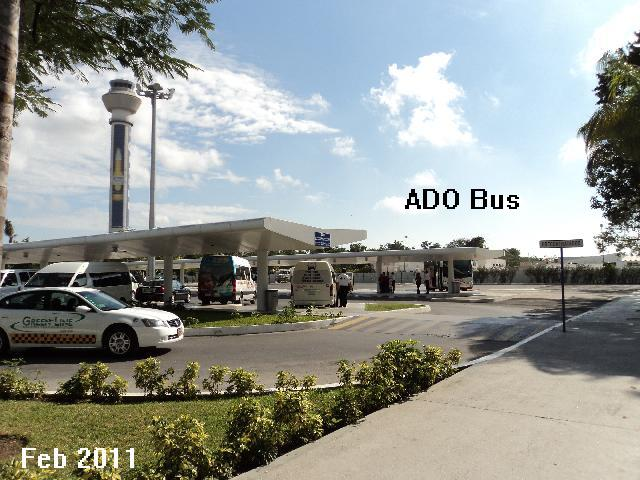 Terminal 2 ADO bus location